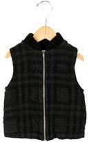 Makie Boys' Plaid Wool Vest