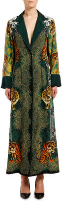 F.R.S For Restless Sleepers Tiger-Print Fitted Robe Coat