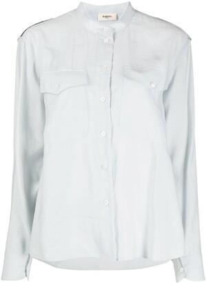 Barena Tipa band-collar shirt