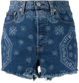 Levi's Bandana Print Jean Shorts