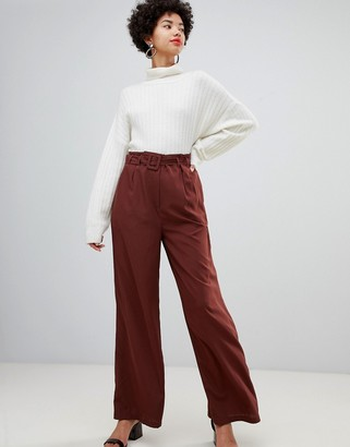 Vero Moda belted high waist wideleg pants