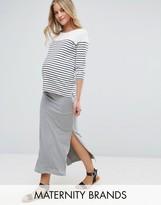 Mama Licious Mama.licious Mamalicious Organic Cotton Tube Maxi Skirt