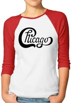 JINYSM Chicago Band Logo Women's 3/4 Sleeve Raglan T-Shirt
