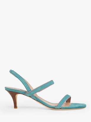 LK Bennett Nala Suede Sandals, Light Blue
