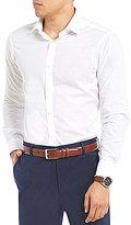 Hart Schaffner Marx Solid Dobby Long-Sleeve Sportshirt