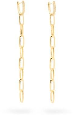 Lizzie Mandler - Diamond & 18kt Gold Chain-drop Earrings - Yellow Gold
