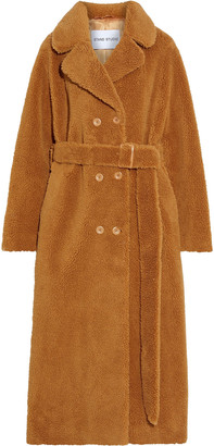 Stand Studio Faustine Double-breasted Faux Shearling Coat