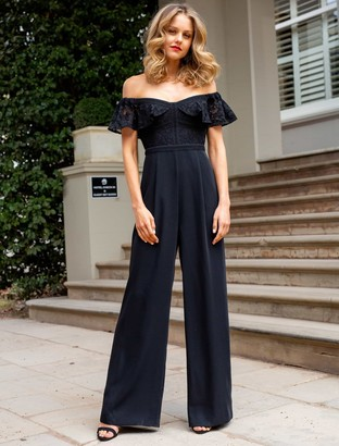 Forever New Misty Off The Shoulder Jumpsuit - Black - 4