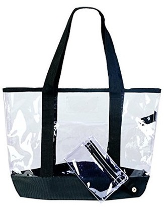 clear K Cliffs Tote Bag Large Transparent Women's Shopping Tote with Coin Pouch 20 inch