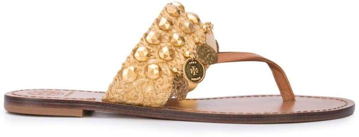 Tory Burch Patos coin thong sandals