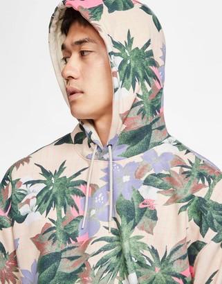 Nike SB floral print hoodie