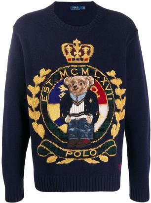 Ralph Lauren logo embroidered sweater