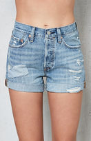 Levi's 501 Highway Blue Denim Shorts