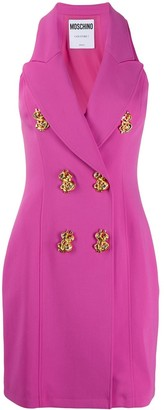 Moschino decorative button short dress