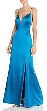 Aidan Mattox Satin Mermaid Gown - 100% Exclusive