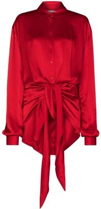 ATTICO Tie-Front Shirt Dress