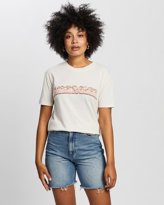 Wrangler Women's Pink T-Shirts - Utopia Tee - Size 6 at The Iconic
