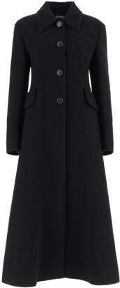 Miu Miu Single Breasted A-Line Long Coat
