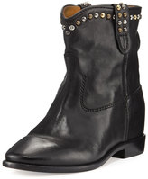 Isabel Marant Cluster Hidden-Wedge Western Boot, Black
