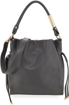Foley + Corinna Faye Small Leather Drawstring Bag, Gray