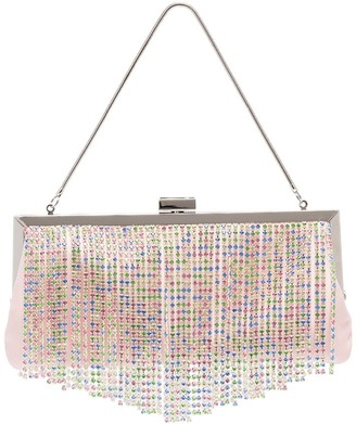 Black & Brown Pattie crystal-fringe shoulder bag