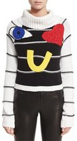 Alice + Olivia Zita Eye Heart You Turtleneck Sweater