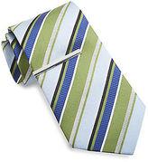Gold Series Ribbon Stripe Silk Tie with Tie Bar Casual Male XL Big & Tall