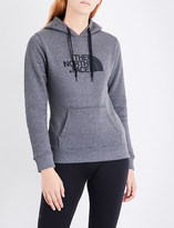 The North Face Ladies Grey Contrast Ultra Light Drew Peak Cotton-Jersey Hoody