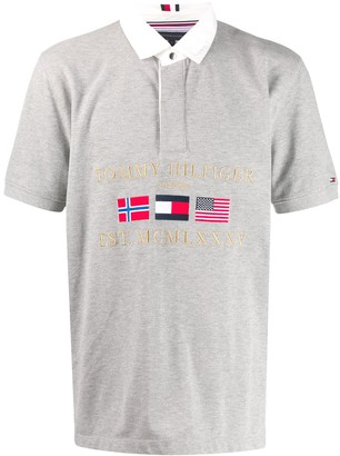 Tommy Hilfiger Embroidered Flags Polo Shirt