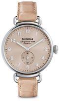 Shinola Runwell Pink Alligator Strap Watch