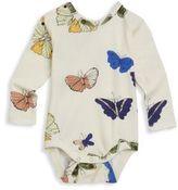 Mini Rodini Baby's Butterflies Long-Sleeve Bodysuit