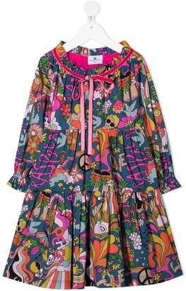 Raspberry Plum Eden floral print dress