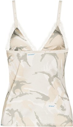 Off-White x Browns 50 camouflage-print camisole