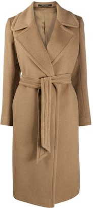 Tagliatore Molly belted mid-length coat