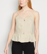 Thumbnail for your product : New Look Blue Vanilla Linen Look Button Up Cami