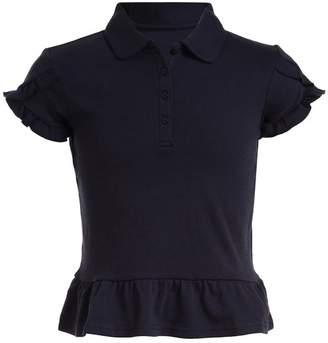 Nautica Uniform Tulip Ruffle Top (Little Girls)