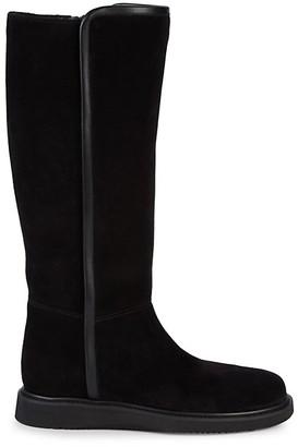Aquatalia Ciara Weatherproof Suede Knee-High Boots