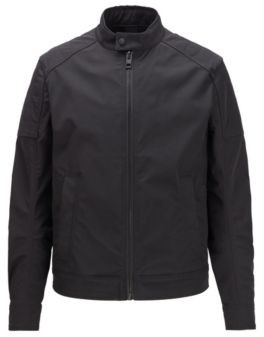 BOSS Slim-fit padded jacket in water-repellent stretch twill