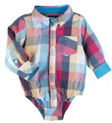 Andy & Evan Infant Boy's Plaid Bodysuit
