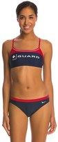 Nike Swim LifeLifeguard Two Piece Sport Top Swimsuit 7386