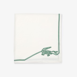Lacoste Women's Crocodile Print Lightweight Cotton And Silk Scarf