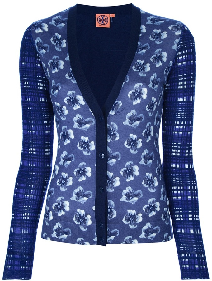 Tory Burch Floral check cardigan