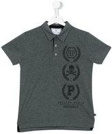 Philipp Plein Junior teen printed polo shirt