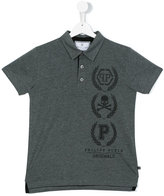 Philipp Plein teen printed polo shirt - kids - Cotton - 14 yrs