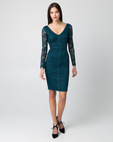 Le Château Lace V-Neck Cocktail Dress
