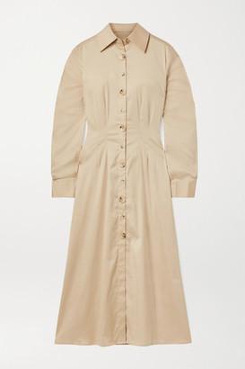 BEIGE Anna Quan ANNA QUAN - Arlo Cotton-blend Poplin Midi Dress