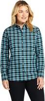 Lands'end Women's Plus Size Supima Cotton No Iron Shirt