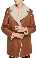 Gerard Darel Fourrure Sheepskin Coat, Camel