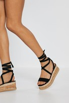 Womens Draw to a Close Wrap Cork Sandals - black - 3