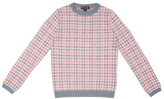 Loro Piana Kids Funny Collage cashmere-blend sweater